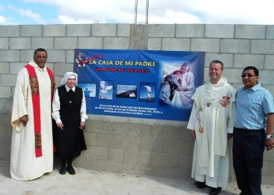Dedication of My Father's House, home for released inmates – Padre Pablo, Mother Antonia, Padre Juan Manuel – 02-09