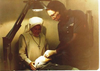 Mother Antonia & Dr. Merrel Olesen – operating on inmate in prison infirmary - circa 1980