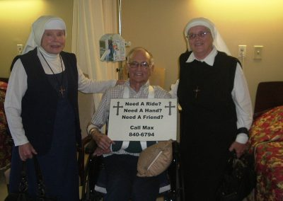 Mother Antonia, Edgar Maxfield, Sr. Anne Marie – copy of business card Edgar gave out. Mother used the message in her talks – 09-09