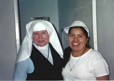 Mother Antonia & Oliva, wife of Carlos Bustamante, Mother's right-hand man – circa 2000