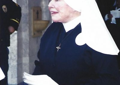 Mother Antonia at Mass for the Police – circa 2006