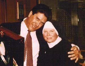 Mother Antonia with Rigoberto Campos, former drug lord, assassinated on Feb. 27, 1991 – 1988